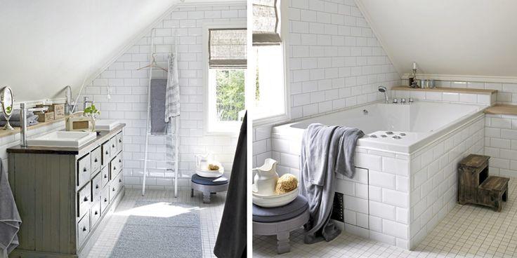 badet i 2. etg med skråtak  Nytt hus i gammel stil  Pinterest