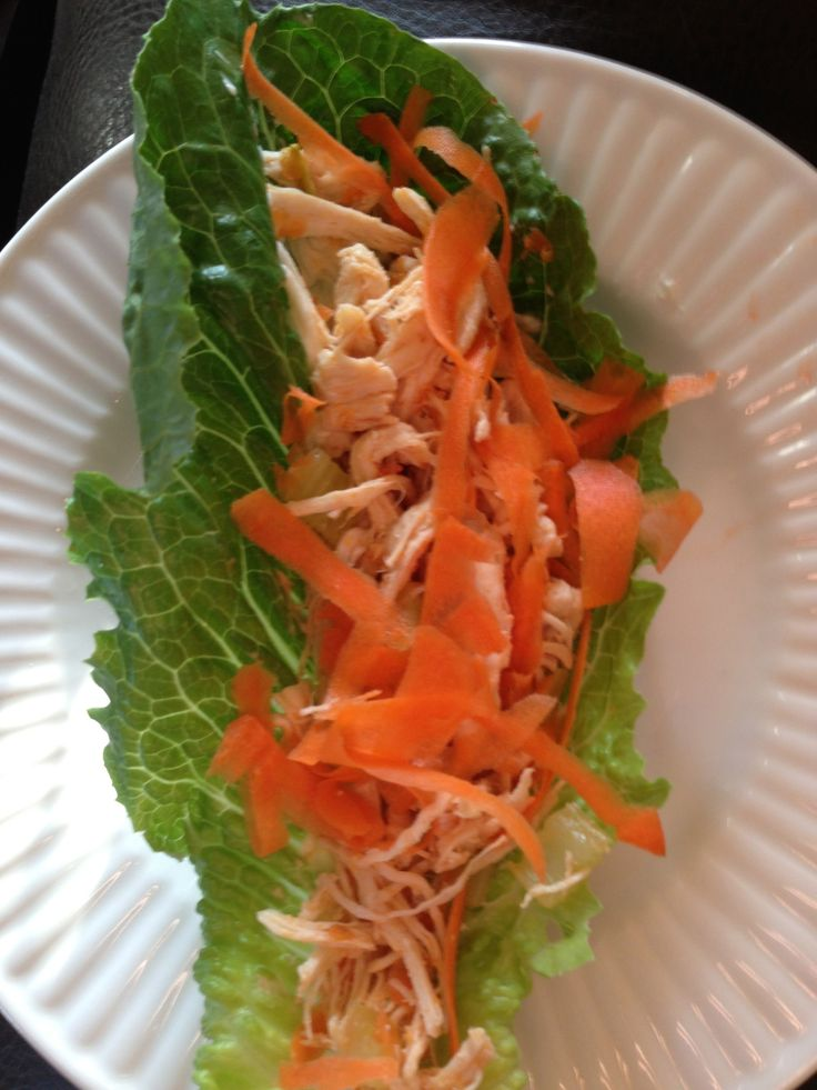 Buffalo chicken lettuce wraps with The Laughing Cow Light Blue Cheese ...