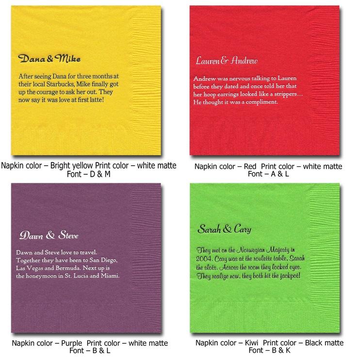 funny #cocktail #napkins #sonal | Reception: Napkin Ideas | Pinterest