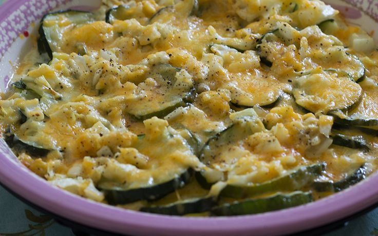 Easy Cheesy Zucchini Casserole - use josephs pita crumbs instead of ...