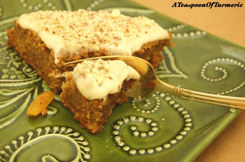 Sweet Potato & Carrot Chai Spiced Halwa Cake with Chai Cream Cheese ...