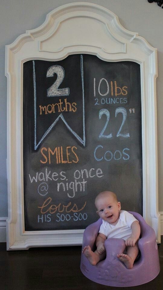 Monthly baby photo - chalkboard