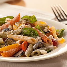Creamy Mediterranean-style Pasta Salad   Favs   Pinterest