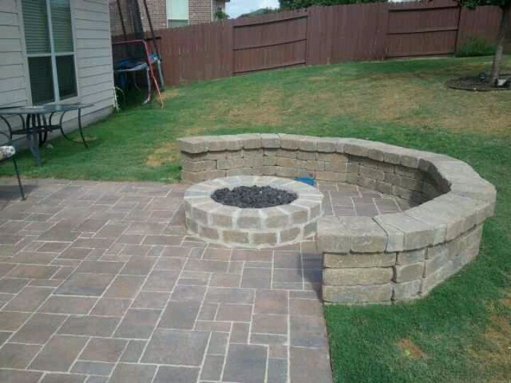 outdoor fire pit with seating outdoors pinterest