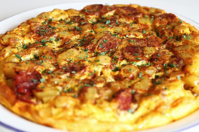 Everybody Cooks!: Spanish Omelette with Chorizo- using sweet potatoes ...