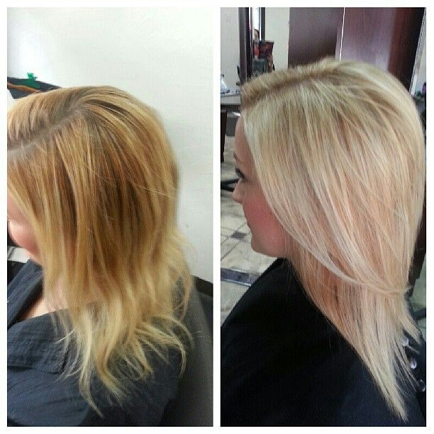 From Brassy Gold Blonde To Light Ash Champagne Highlights