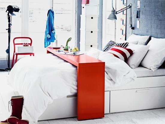 ikea malm bett fr hst ckstisch. Black Bedroom Furniture Sets. Home Design Ideas