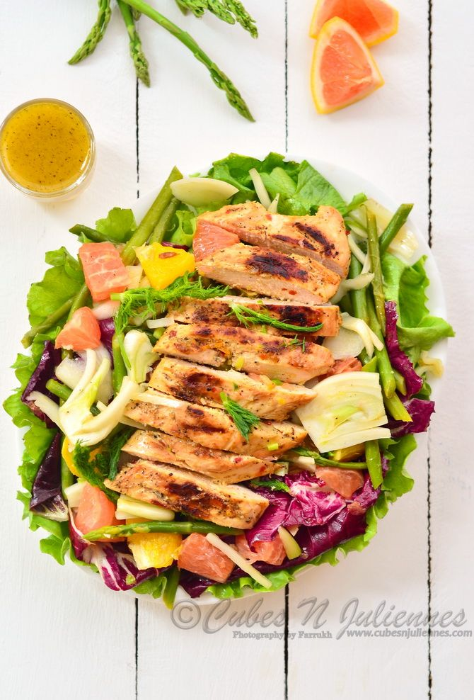 Grilled chicken,fennel and citrus salad | CubesNJuliennes - Food & Ph ...