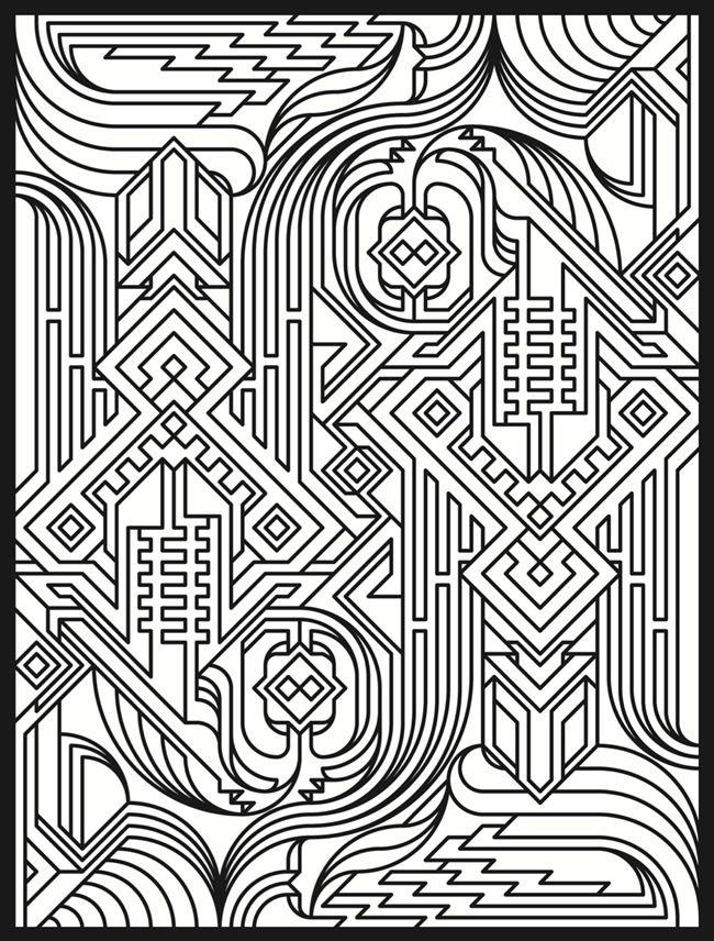 Deco Tech 5 Coloring Pages Books Pinterest Tech Coloring Page