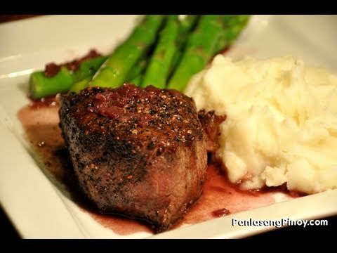 Pepper Crusted Filet Mignon - YouTube | Food | Pinterest