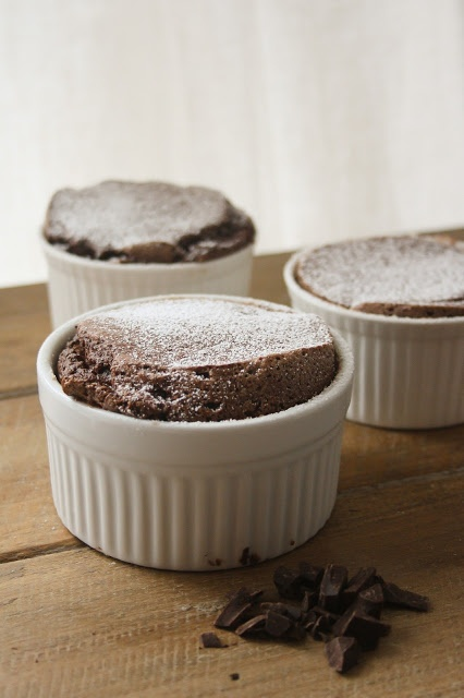 Dark Chocolate Souffles | hint of vanilla | Pinterest