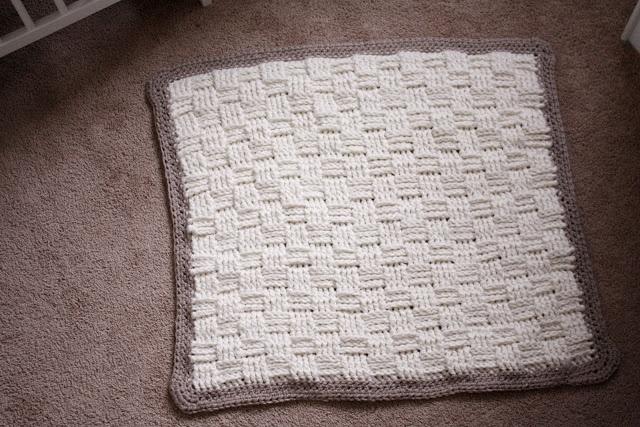 Crochet Baby Blanket Basket Weave Pattern : Basket Weave Crochet Baby Blanket Pins Ive Actually ...