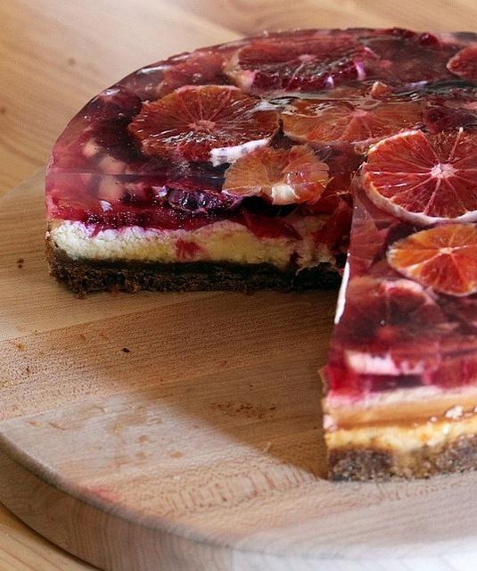 Blood orange cheesecake | food I've made | Pinterest