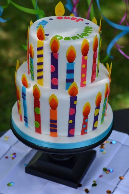 menorah cake