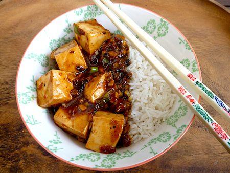 Vegetarian Mapo Tofu, from The Backyard Lemon Tree