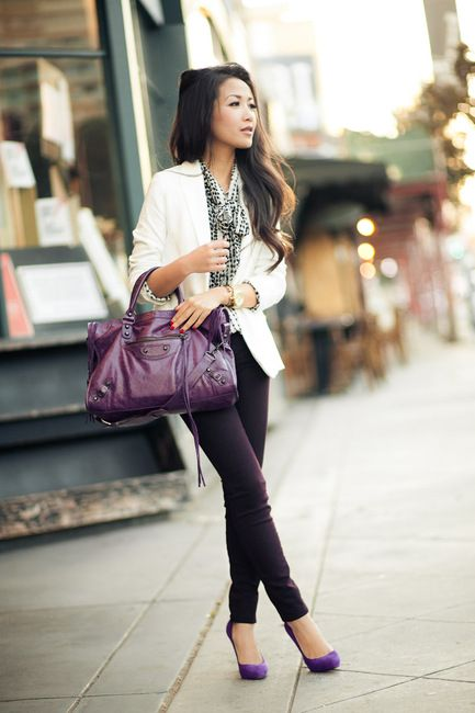 i like this purple trend for fall.  it looks great in fashion and would be a nice touch for fall decor too.