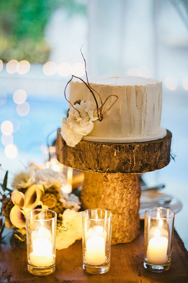 DIY wood cake stand | wedding inspiration ♥ | Pinterest