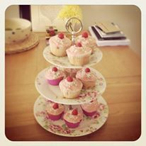 Raspberry and Coconut cupcakes from the Skinny London Baker #cupcakes ...