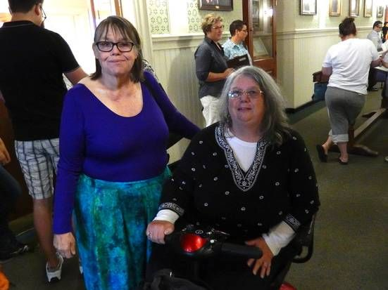 Rhode Island - Caroline Pippert, left, and Priscilla Jane Felker were joined in a civil union in 2011, and were happy to be at Warwick City Hall to fill out the form that would give them a marriage license.