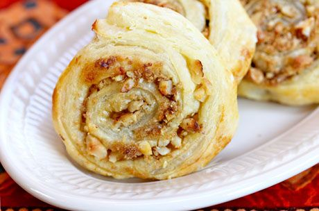 Super easy brown sugar and walnut puff pastry swirls, from The Perfect ...