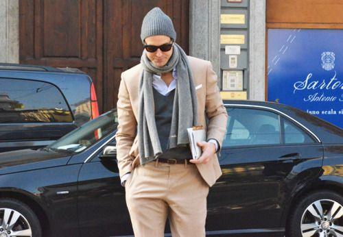 Beige Suit...