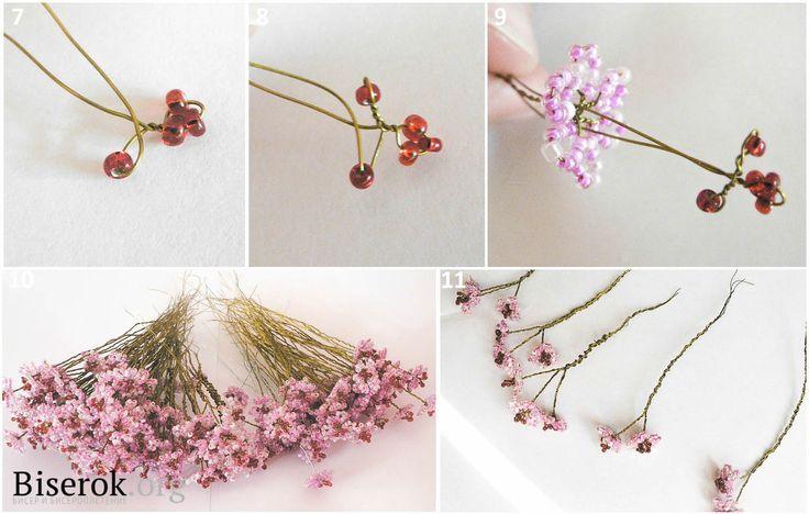 Цветок сакуры из газетных трубочек - Плетение из газет