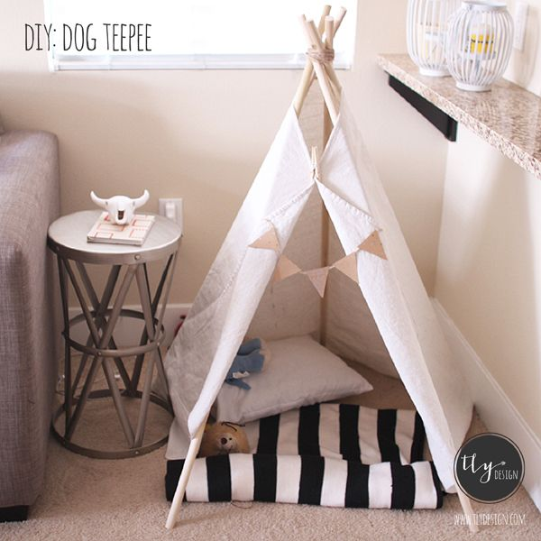 diy dog teepee tlydesign diy pinterest
