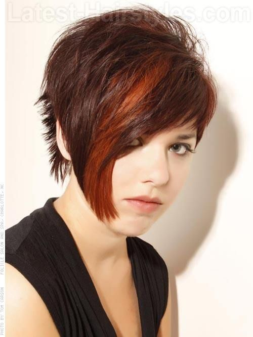 Cute Short Haircuts for Round Faces 2013