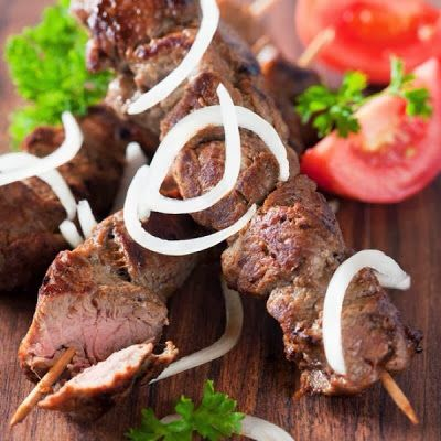 Garlic Mustard Beef Skewers Recipe | food i wanna try eventually | Pi ...