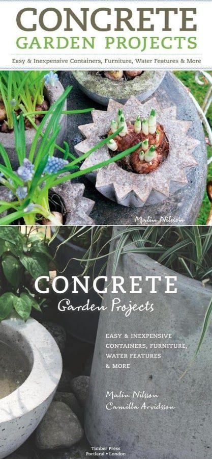 Book concrete garden projects project ideas pinterest for Garden design ideas book