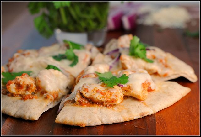 Chicken Tikka Pizzas   Pizza   Pinterest
