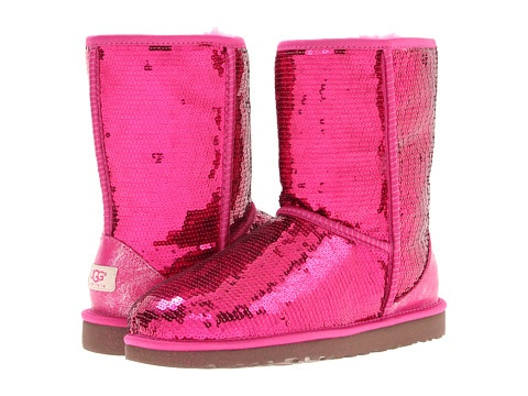 2016 pink sparkle uggs with bows
