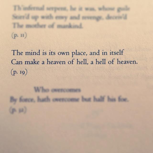 John Milton paradise lost quotes