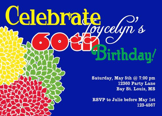 Flower Birthday Invitation as good invitation layout