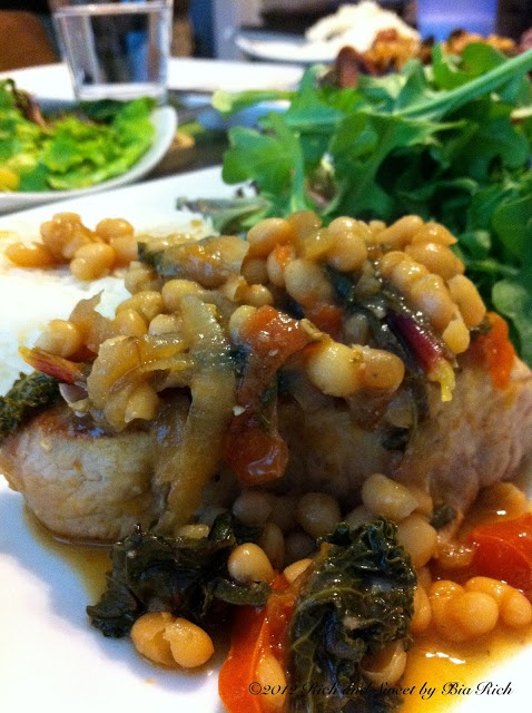 by Bia Rich: Braised Pork Chops with Smoked Beef Sausage, White Beans ...