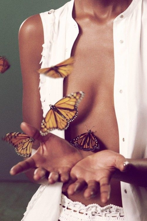 Try to live life like this. If you try to hold the butterflies you'll only crush them. Just be thankful for them paying you a visit and be happy while it lasts :)