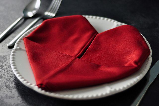 Valentine napkin.