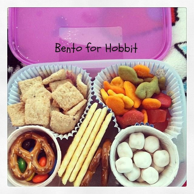 #Bentoforhobbit His first Bento meal!