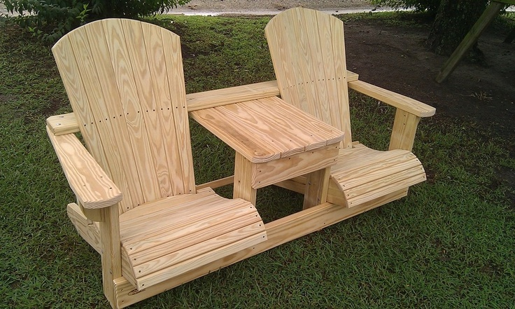 Desk Chair Plan Double Adirondack Plans With Cooler