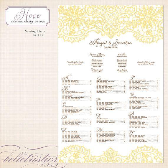 Wedding seating chart printable diy design by belletristics 45 00