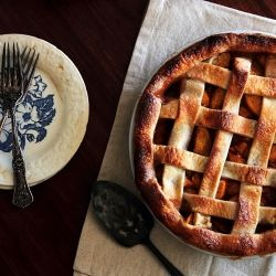 Vanilla Cardamom Peach Pie for the transition between seasons.