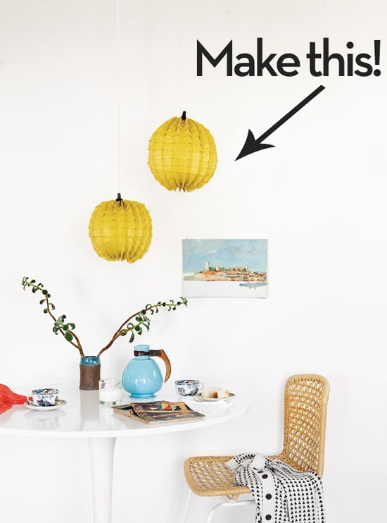 Make your own paper lamp shade