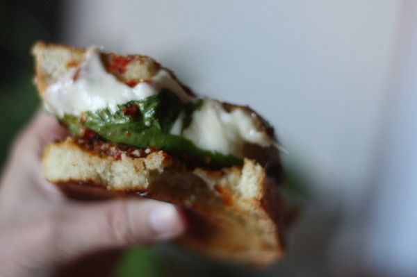 this w pesto sun dried tomatoes amp dried basil put the sandwich in ...