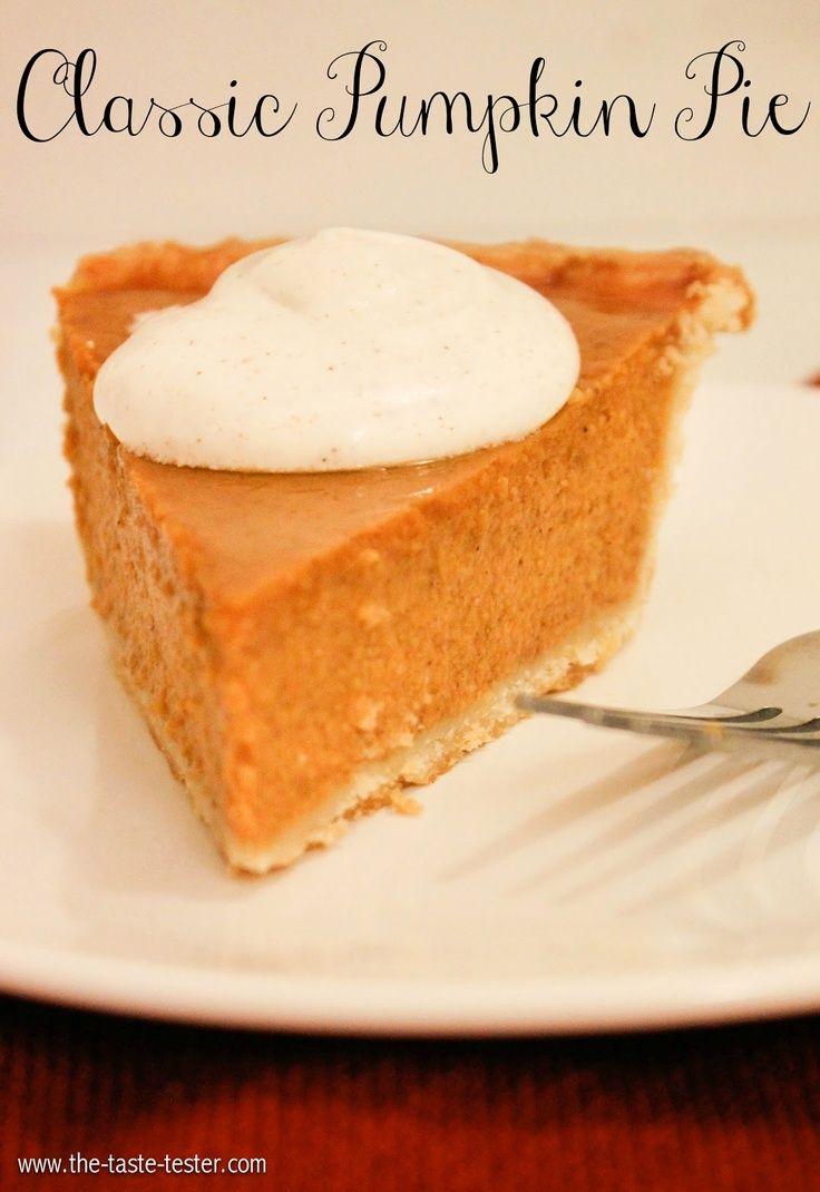 Classic Pumpkin Pie. | Books Worth Reading | Pinterest