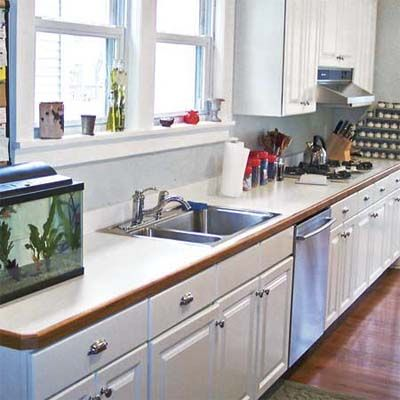 Up Grades : before image of a kitchen that can use a remodel