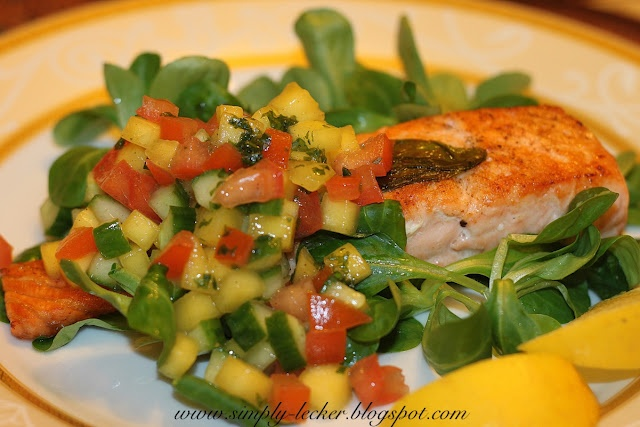 Salmon with mango salsa | Food & Recipes | Pinterest