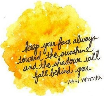 Sunshine quote via Carol's Country Sunshine on Facebook