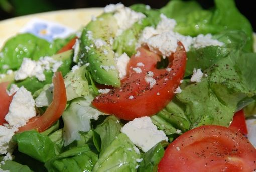 Tri-Color Salad with Fresh Cheese and Lime-Honey Vinaigrette | Recipe