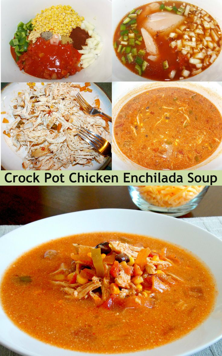 Crock Pot Chicken Enchilada Soup - Healthy and Flavorful