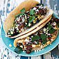 crispy black bean tacos with feta & cabbage slaw. add a spoonful of ...